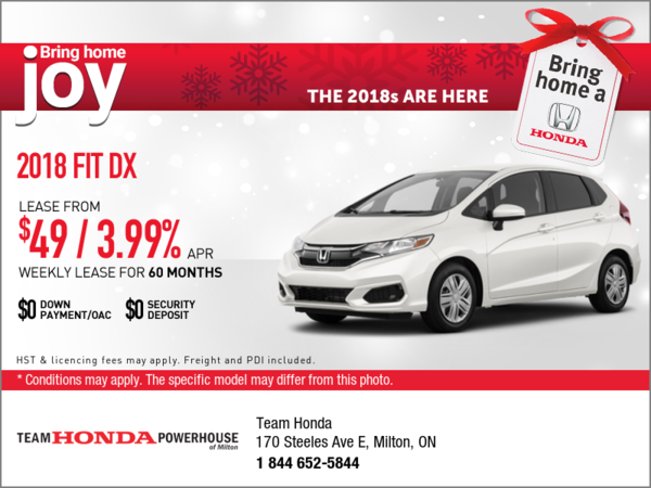 Save on the 2018 Fit Today!