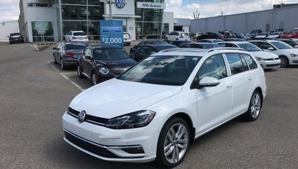 2018 Volkswagen GOLF SPORTWAGEN Highline Manual 4MOTION  - $233.97 B/W