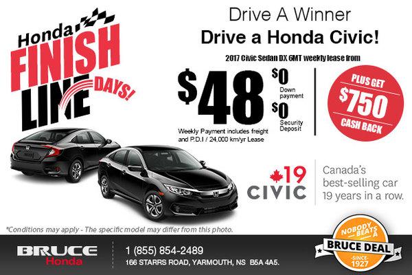 Save Big on the 2017 Civic!