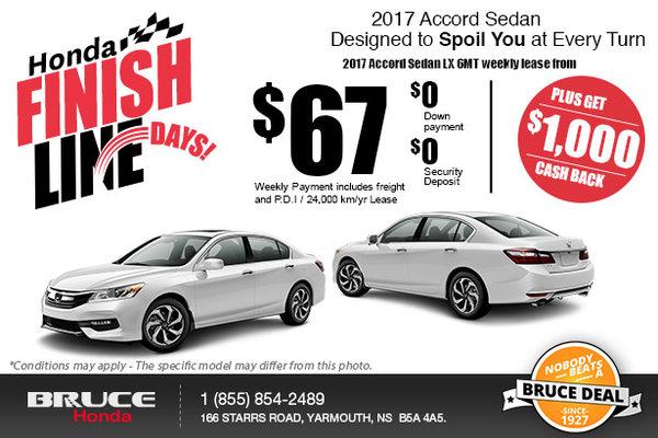 Get a Brand-New 2017 Honda Accord!