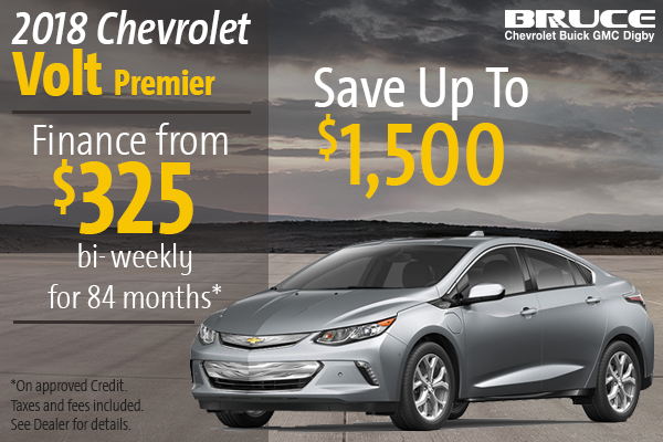 Finance the 2018 Chevrolet Volt Premier!