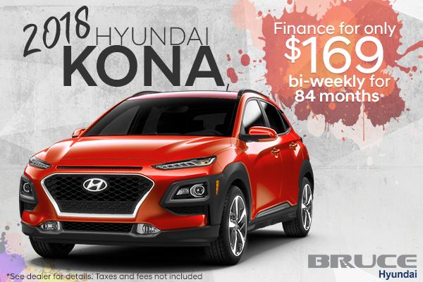 Get the 2018 Kona. The new SUV.