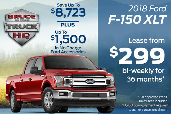 Lease the 2018 Ford F-150 XLT