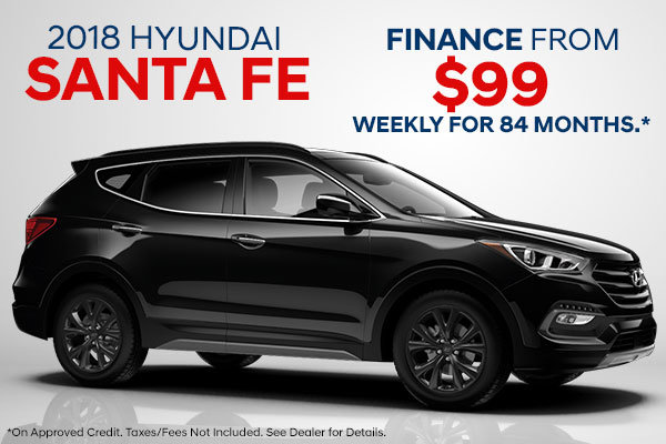 Finance the 2018 Santa Fe!