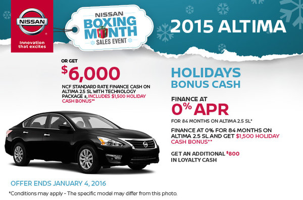 Boxing month sales event 2015 nissan altima dormani for Promotion cash piscine
