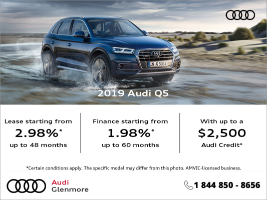 Get the 2019 Audi Q5 today!