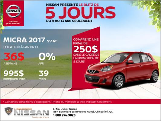 Nissan Micra 2017 | Blitz 5 jours