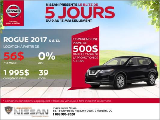 Nissan Rogue 2017 | Blitz 5 jours