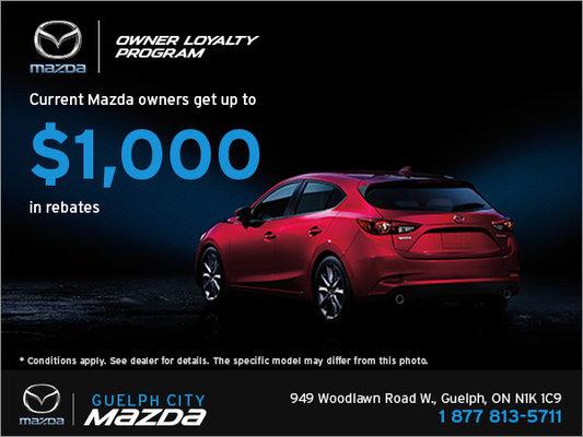 Owner Loyalty Program Guelph City Mazda Promotion In Guelph - Mazda loyalty program