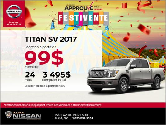 Nissan Titan 2017 en location