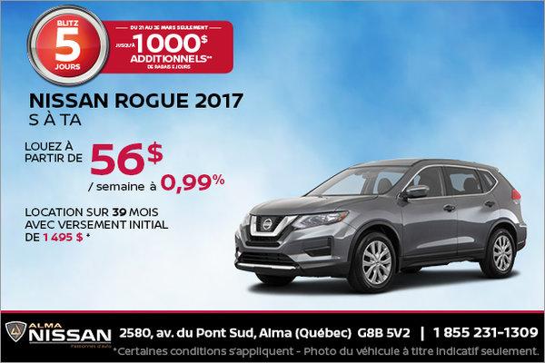 Nissan Rogue 2017 en rabais | Blitz de 5 jours