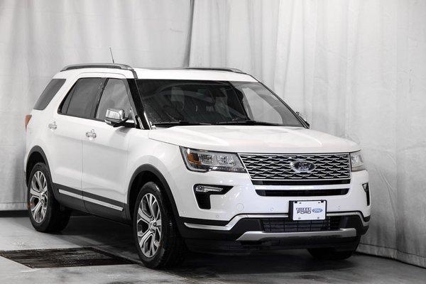 New 2018 Ford Explorer Platinum White Platinum Tri-Coat (MET) for sale - $64746.75 | #18T4291 ...