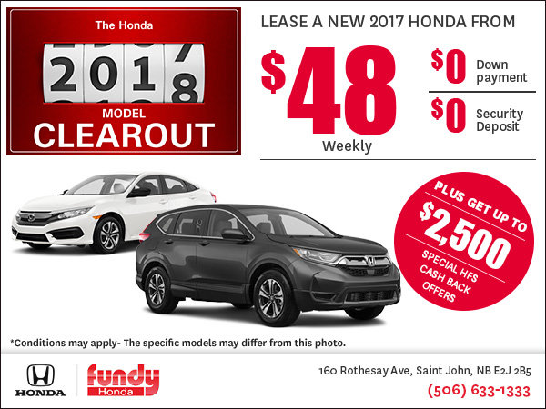 Fundy Honda Clearout Event!