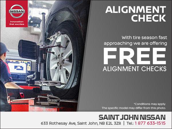 Get Your Free Alignment Check | Saint John Nissan