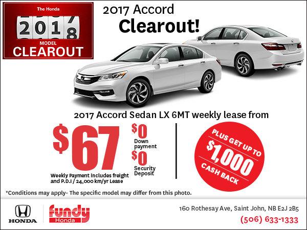 Drive Home the 2017 Honda Accord Now!