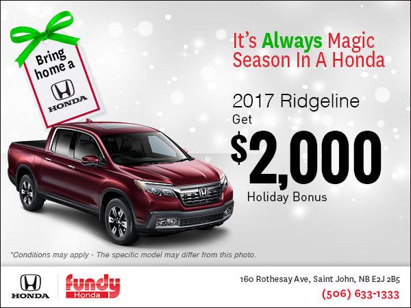 Drive Home the 2017 Ridgeline Today!