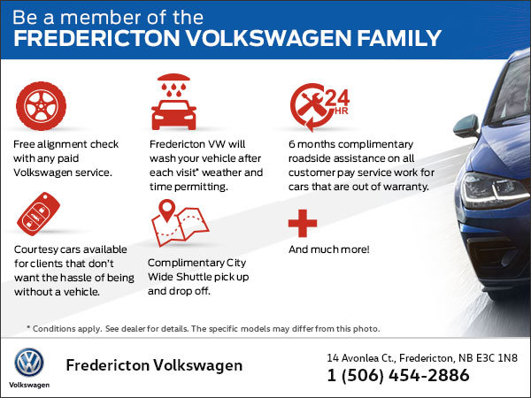 Be a Member of the Fredericton Volkswagen Family