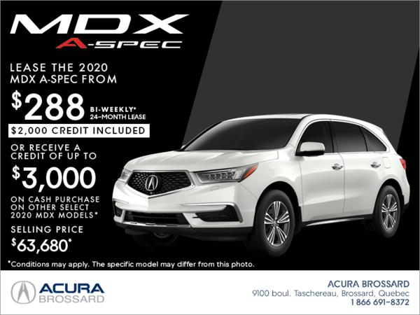 24 Month Lease >> 2020 Acura Mdx Acura Brossard