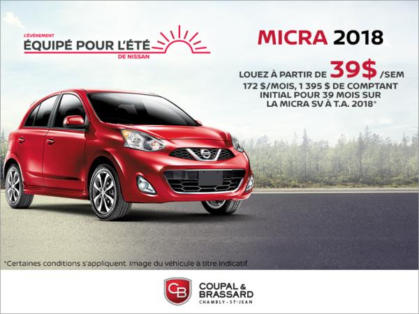 Louez la Nissan Micra 2018!