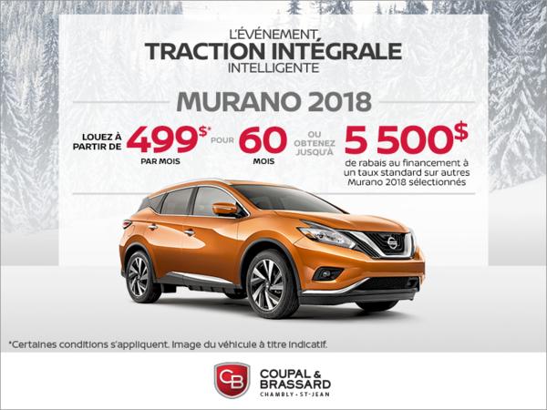 Obtenez la Nissan Murano 2018 dès aujourd'hui!