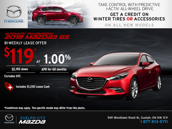 Save on the 2018 Mazda3!