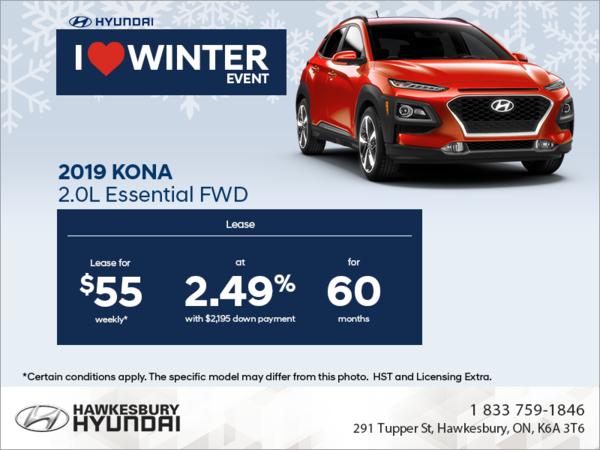 Lease The 2019 Kona Hawkesbury Hyundai