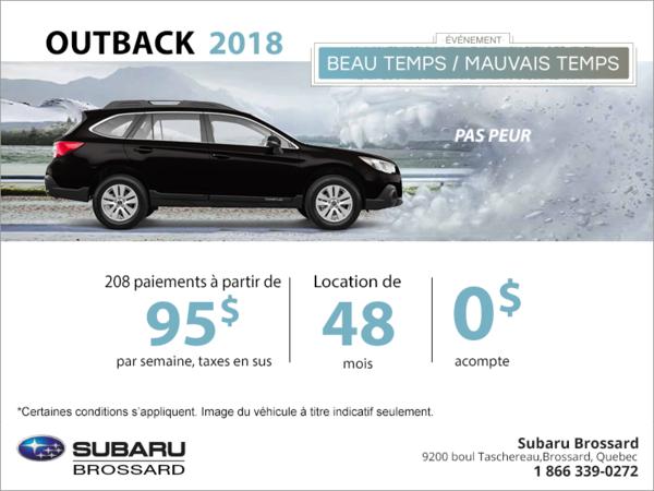 Louez la Outback 2018!