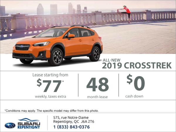 Lease the all-new 2019 Crosstrek today!