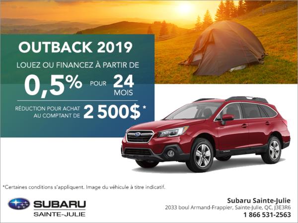 Procurez-vous le Subaru Outback 2019!