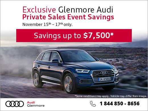 Glenmore Audi's Private Sales Event