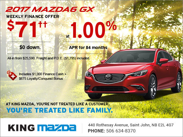 Save on the 2017 Mazda6 GX Today!