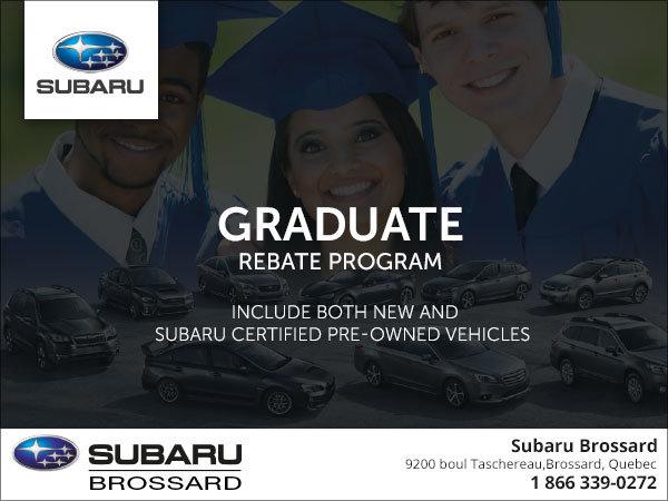 Subarus Graduate Rebate Program Subaru Brossard - Subaru graduate program