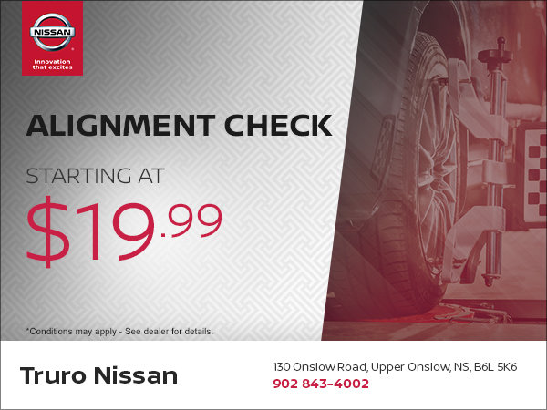 Wheel Alignment Check from $19 99! | Truro Nissan