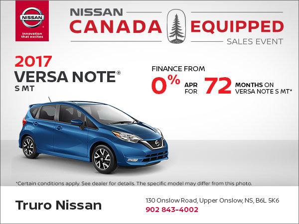 Huge Savings on the 2017 Versa Note!