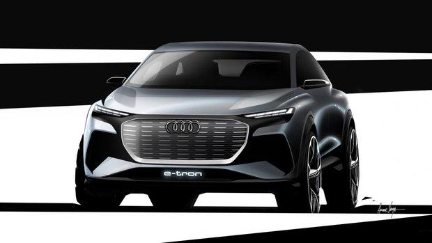 New Audi Q4 e-tron set for Geneva unveil