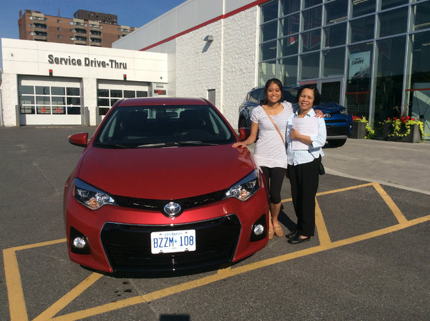 Purchase of Toyota Corolla S 2016