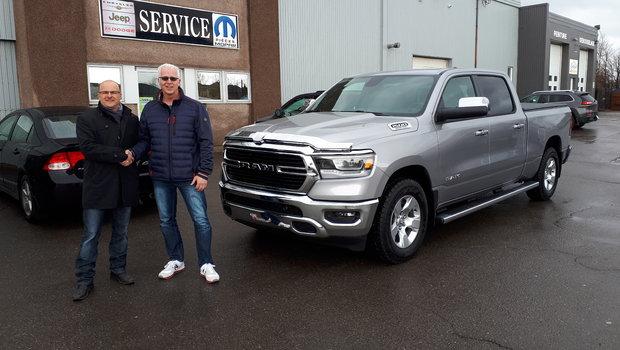 On tiens à féliciter M. Martin Ruest pour son 2e achat au Garage Windsor un  magnifique Ram 2019.