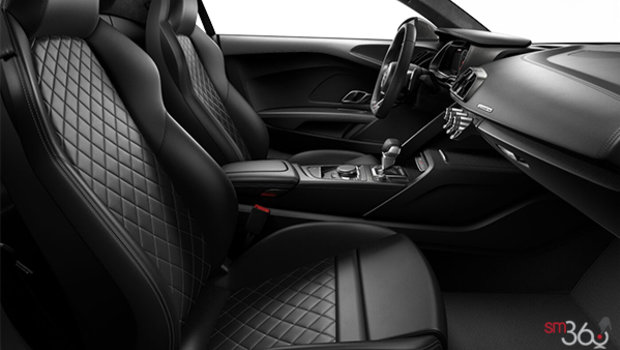 Black/Silver Diamond Stitching Fine Nappa Leather