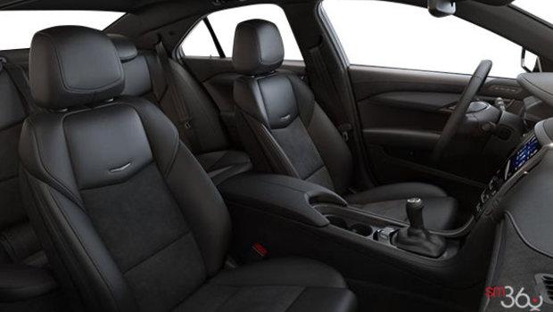 Cuir Noir jais (AQ9-HHO) avec dossiers de sièges et empiècements en microfibre suédée