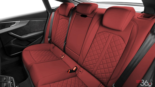 Magma Red with Granite Grey stitching Nappa Leather