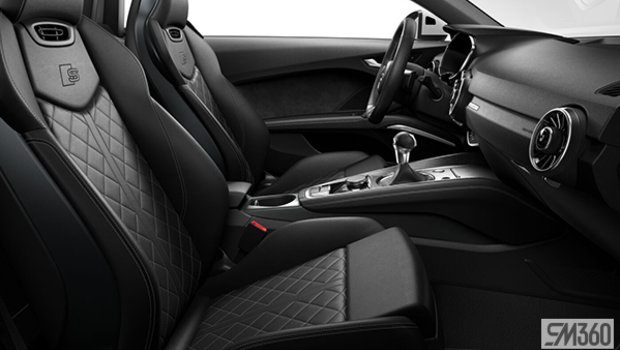 Black Fine Nappa leather with S line logo w/Rock Grey stitching