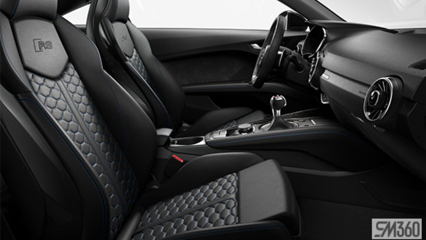 Black fine nappa leather seats with Ara Blue Honeycomb stitch