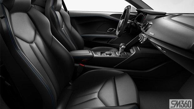 Black Nappa Leather Sport Seats/Macaw Blue Stitching
