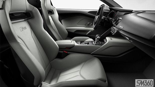 Pastel Silver Nappa Leather Bucket Seats/Rock Gray Stiching