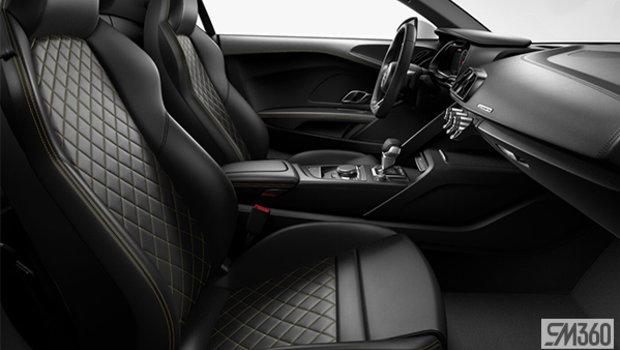 Black Nappa Leather Sport Seats/Vegas Yellow Diamond Stitch