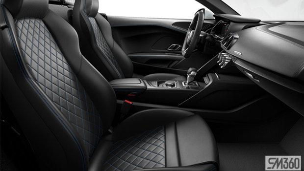 Black/Ara Blue Contrast Stitching Nappa Leather Sport Seats