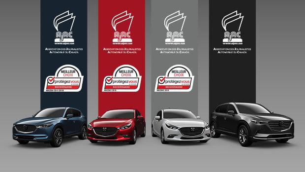 Les véhicules Mazda remportent les prix AJAC et Protégez-vous