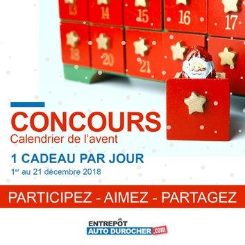 Concours Calendrier.Concours Calendrier De L Avent Par Entrepot Auto Durocher