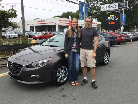 Emma & Chris's new Mazda 3!