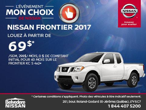 Frontier 2017 en rabais!